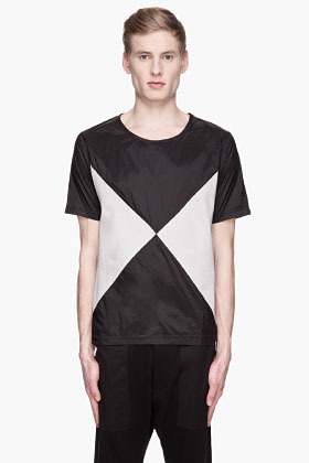 adidas BY O.C. Black and grey Color Blocked X T-shirt