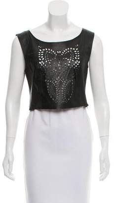 Chloe Sevigny for Opening Ceremony Laser Cut Leather Crop Top
