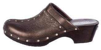 MICHAEL Michael Kors Leather Embellished Clogs