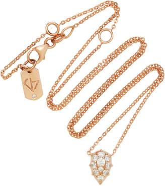 Carbon & Hyde Venus 18K Rose Gold Diamond Choker