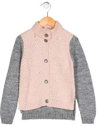 Miss Blumarine Girls' Knit Button -Up Cardigan