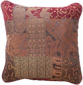 Croscill Classics Catalina Red Square Decorative Pillow
