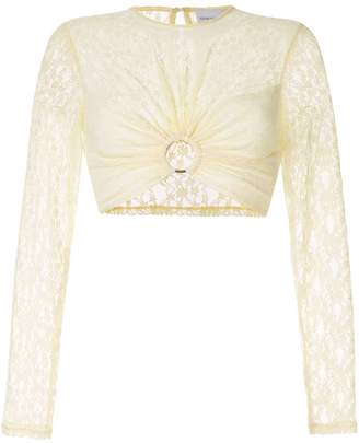 Alice McCall On + On lace cropped top