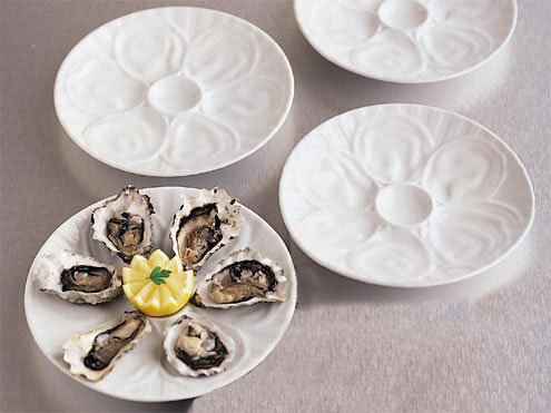 BIA Cordon Bleu White Porcelain Oyster Plates