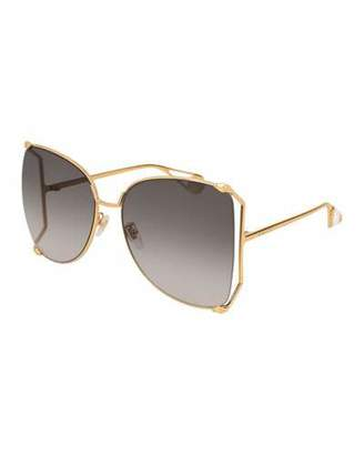 bf7fd92902 Gucci Sunglasses Butterfly Temple - ShopStyle