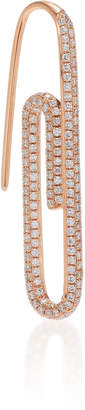 Anita Ko 18K Rose Gold And Diamond Paper Clip Left Earring