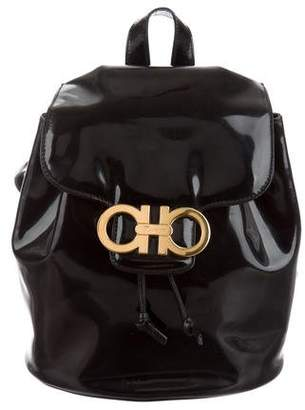 Salvatore Ferragamo Gancini Leather Backpack