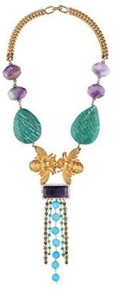 Katerina Psoma Women Multicolour Agate Statement Necklace of Length 23cm SSN1802 LKgWi0P