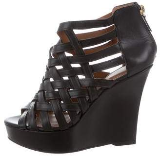 Givenchy Leather Cage Wedges
