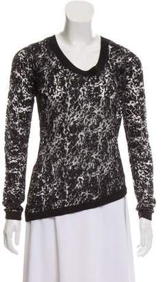 The Kooples Patterned Asymmetrical Sweater