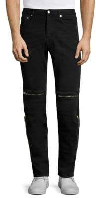 Givenchy Straight-Fit Zip Moto Jeans