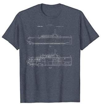 Submarine Military Blueprint Shirt - Sub Design Nuclear Tee