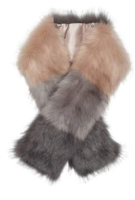 Sam Edelman Color Block Faux Fur Scarf