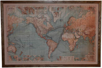 Global Gatherings Light Up World Map Wall Hanging