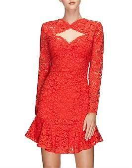 Lover Petal Flip Long/Sleeve Lace Dress