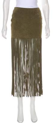The Perfext Suede Fringe Mini Skirt w/ Tags