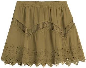 IRO Embroidered Mini Skirt