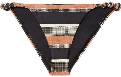 Vix Saona Rope Printed Bikini Briefs - Black