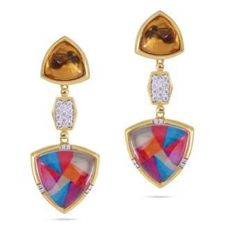 LMJ - Colorful Canvas Earrings