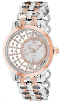 CHRISTIAN VAN SANT Christian Van Sant Womens Delicate White Faux Pearl Watch
