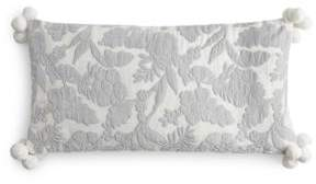 "Sky Velvet Floral Decorative Pillow, 12"" x 24"" - 100% Exclusive"