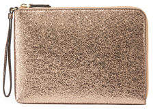 Neiman Marcus Large Glitter Charging Wristlet Clutch Bag