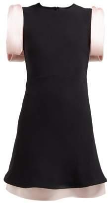 Calvin Klein Bow Embellished Crepe Mini Dress - Womens - Black Pink