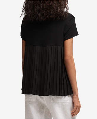 DKNY Pleated-Back T-Shirt, Created for Macy's