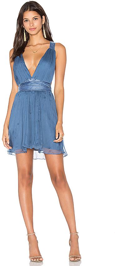 MAJORELLE April Dress in Blue 4
