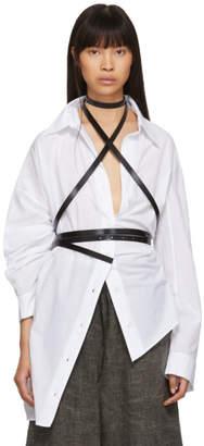 Ann Demeulemeester Black Skinny Kenya Harness Belt