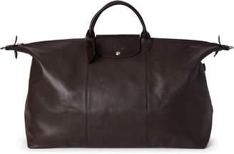 Longchamp Dark Brown Le Foulonne XL Leather Travel Bag