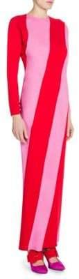 ATTICO Satin Striped Gown
