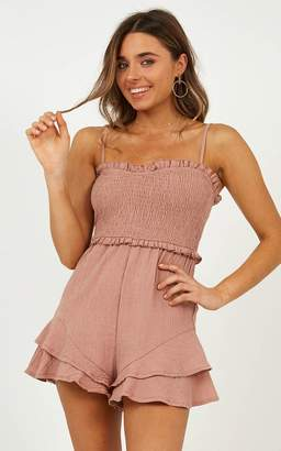 2d7908b5bfbc Showpo Broken Love playsuit in dusty rose - 10 (M) Playsuits