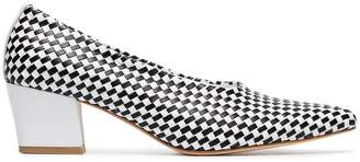 Maryam Nassir Zadeh Ruby 50 woven leather pumps