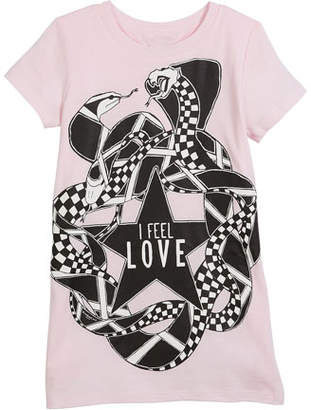 Givenchy I Feel Love Snakes Jersey Shirt Dress, Size 4-5