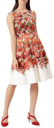 Hobbs London Nia Pleated Floral Print Dress