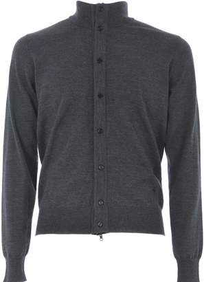 Fay High Collar Cardigan