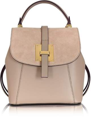 Le Parmentier Palazia Nude Suede and Leather Small Backpack