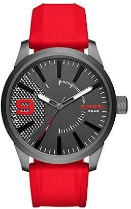 Diesel Men's DZ1806 Rasp Gunmetal IP Silicone Watch