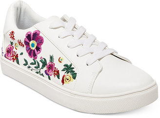 Betsey Johnson Maya Embroidered Sneakers Women's Shoes $69 thestylecure.com