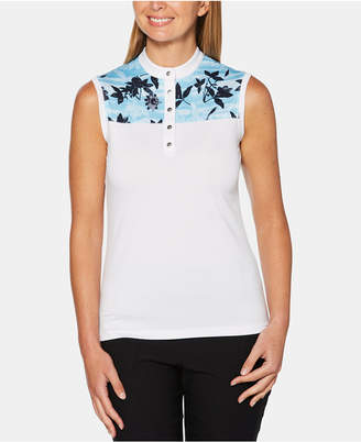 Callaway Printed Colorblocked Sleeveless Golf Top