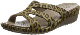 Crocs Women's Sanrah Graphic Strappy Wedge Sandal