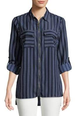 MICHAEL Michael Kors Stripe Printed Button-Down Shirt