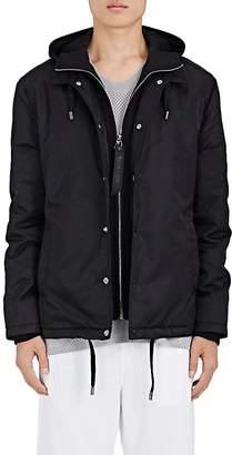 Barneys New York NBALab x The Very Warm XO Men's Flight Satin & Jersey Hooded Coach's Jacket