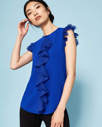 Ted Baker YSABEL Frill detail knitted top
