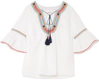 Talitha Priya Embroidered Cotton Blouse - White