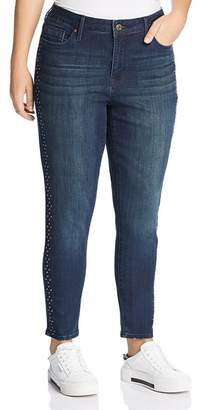 Seven7 Jeans Plus Stud-Trimmed Jeans in Horizon Wash