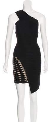 Herve Leger Maran One-Shoulder Dress