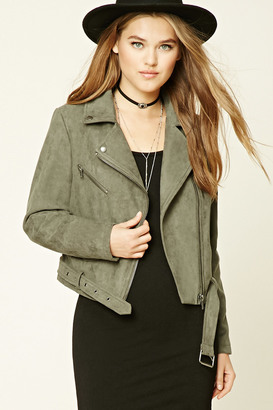 FOREVER 21+ Faux Suede Moto Jacket $32.90 thestylecure.com