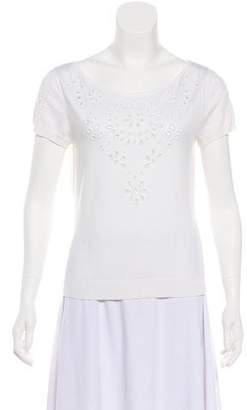 Valentino Beaded Pointelle Top